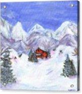 Winter Wonderland - Www.jennifer-d-art.com Acrylic Print by Jennifer Skalecke