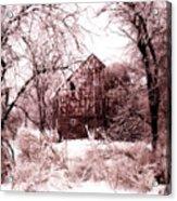 Winter Wonderland Pink Acrylic Print by Julie Hamilton