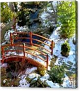 Winter's Goodbye Acrylic Print by Karen Wiles