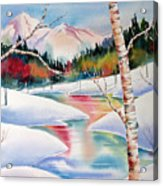 Winter's Light Acrylic Print by Deborah Ronglien