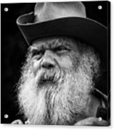 Wise Man Acrylic Print by Ron  McGinnis