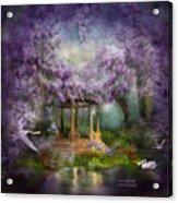 Wisteria Lake Acrylic Print by Carol Cavalaris