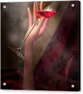 With Glass In Hand Acrylic Print by Tom Mc Nemar