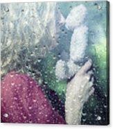 Woman And Teddy Acrylic Print by Joana Kruse