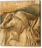 Woman At Her Toilet Acrylic Print by Edgar Degas