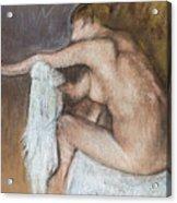 Woman Drying Her Arm Acrylic Print by Edgar Degas