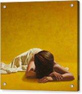 Woman In Yellow Acrylic Print by Horacio Cardozo