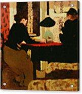 Women By Lamplight Acrylic Print by vVuillard