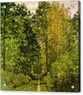 Wooded Path Acrylic Print by Claude Monet