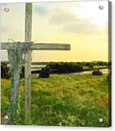 Wooden Cross 1 Acrylic Print by Sheri McLeroy