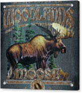 Woodlands Moose Sign Acrylic Print by JQ Licensing