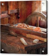 Woodworker - The Table Saw Acrylic Print by Mike Savad