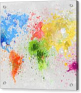 World Map Painting Acrylic Print by Setsiri Silapasuwanchai