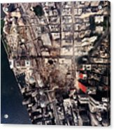 World Trade Center, Aerial Photograph Acrylic Print by Everett