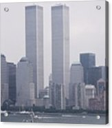 World Trade Center And Opsail 2000 July 4th Photo 6 Acrylic Print by Sean Gautreaux