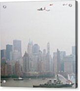 World Trade Center And Opsail 2000 July 4th Uscg Photo 17  Acrylic Print by Sean Gautreaux