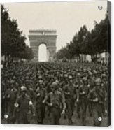 World War II. The Liberation Of Paris Acrylic Print by Everett