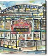 Wrigley Field Acrylic Print by Matt Gaudian