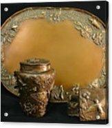 Wyoming Wildflowers Bronzes Acrylic Print by Dawn Senior-Trask