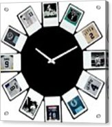 yankees Clock Acrylic Print by Paul Van Scott