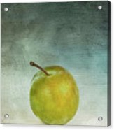 Yellow Plum Acrylic Print by Bernard Jaubert