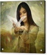 You Bird Of Freedom And Peace Acrylic Print by Gun Legler