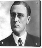 Young Franklin Delano Roosevelt Acrylic Print by War Is Hell Store
