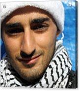 Young Palestinian Man Acrylic Print by Munir Alawi