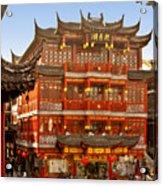 Yuyuan - A Bizarre Bazaar Acrylic Print by Christine Till
