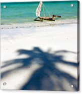 Zanzibar Beach Acrylic Print by Adam Romanowicz