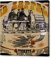 Zeppelin Express Work B Acrylic Print by David Lee Thompson