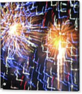 Zig Zag Blast Acrylic Print by Debra     Vatalaro