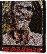 Zombie Bottle Cap Mosaic Acrylic Print by Paul Van Scott