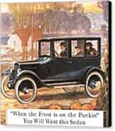 1920s Usa Overland Cars Canvas Print by The Advertising Archives