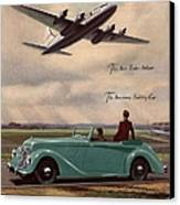 1940s Uk Aviation Hawker Siddeley Cars Canvas Print by The Advertising Archives