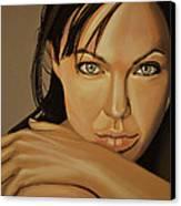 Angelina Jolie Voight Canvas Print by Paul Meijering