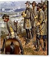 Battle Of Fredericksburg Canvas Print by American School