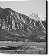 Colorado Rocky Mountains Flatirons With Snow Covered Twin Peaks Canvas Print by James BO  Insogna