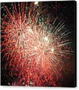 Fireworks Canvas Print by Alan Hutchins