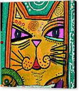 House Of Cats Series - Fish Canvas Print by Moon Stumpp