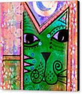 House Of Cats Series - Moon Cat Canvas Print by Moon Stumpp