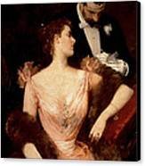 Invitation To The Waltz Canvas Print by Francesco Miralles Galaup