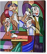 Jesus Anointed At Bethany Canvas Print by Anthony Falbo