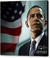 President Barack Obama Canvas Print by Marvin Blaine