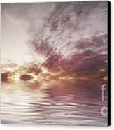 Reflection Of Mauve Skies Canvas Print by Holly Martin