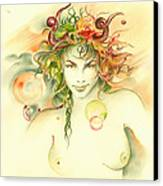 The Capricorn Canvas Print by Anna Ewa Miarczynska
