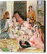 The Harem Canvas Print by John Frederick Lewis