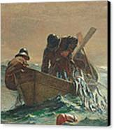 The Herring Net Canvas Print by Winslow Homer