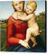 The Small Cowper Madonna Canvas Print by Raphael Raffaello Sanzio of Urbino