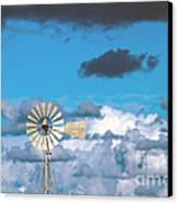 Water Windmill Canvas Print by Stelios Kleanthous
